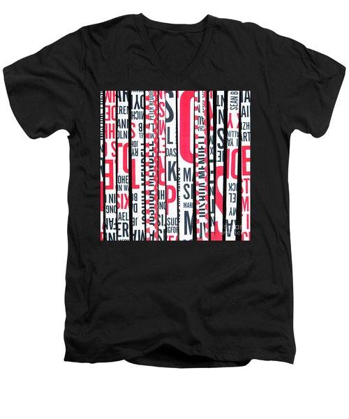 Haiku In Red And Black Men's V-Neck T-Shirt