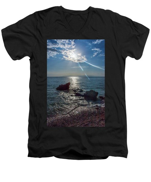 Haitian Beach In The Late Afternoon Men's V-Neck T-Shirt