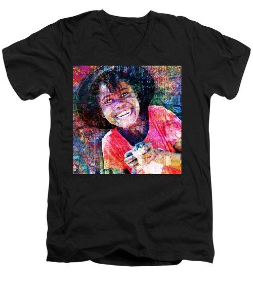 Haitian Daughter Men's V-Neck T-Shirt