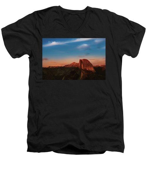 Half Dome  Men's V-Neck T-Shirt by Ralph Vazquez