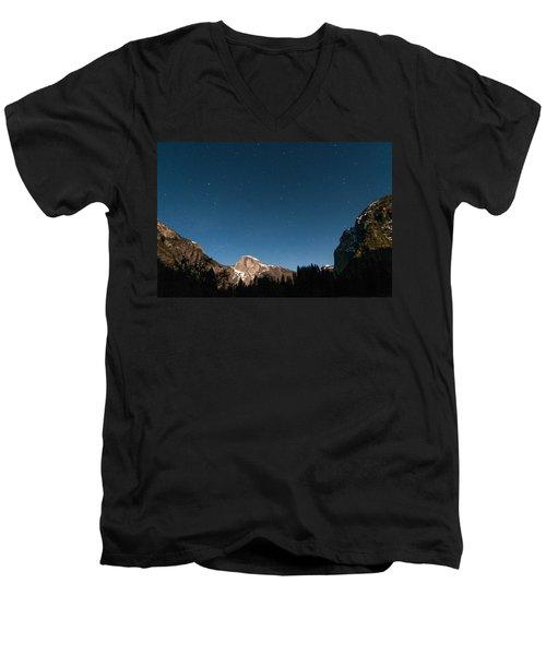 Half Dome Under The Stars Men's V-Neck T-Shirt