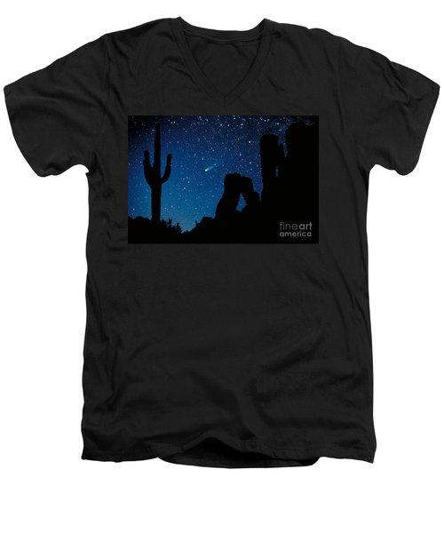 Halley's Comet Men's V-Neck T-Shirt