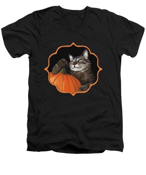 Halloween Cat Men's V-Neck T-Shirt