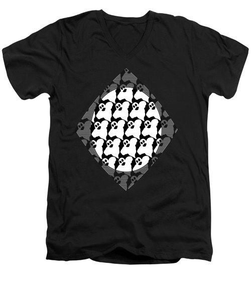 Halloween Ghosts Men's V-Neck T-Shirt