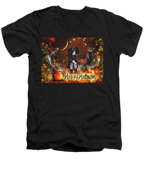 Halloween Girl Men's V-Neck T-Shirt