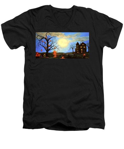 Halloween Night Two Men's V-Neck T-Shirt