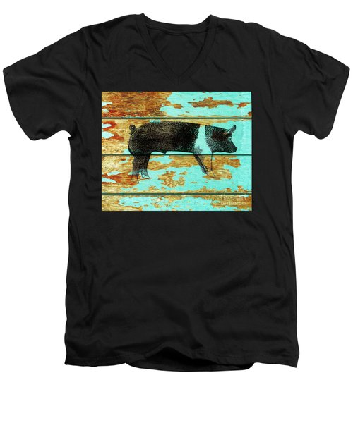Hampshire Boar 1 Men's V-Neck T-Shirt by Larry Campbell