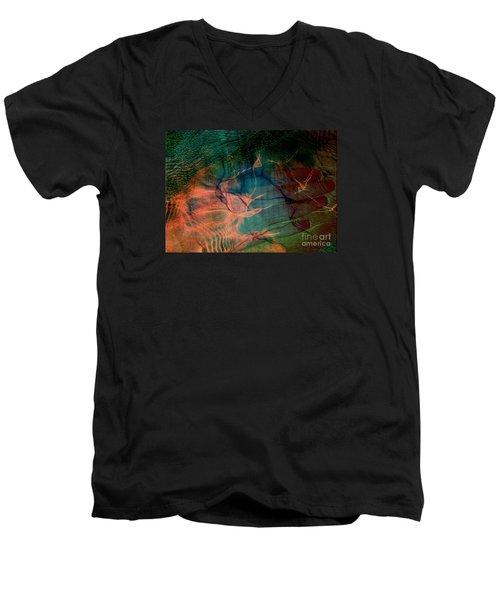 Hand Of A Healer - La Main Dun Guerisseur Men's V-Neck T-Shirt by Fania Simon