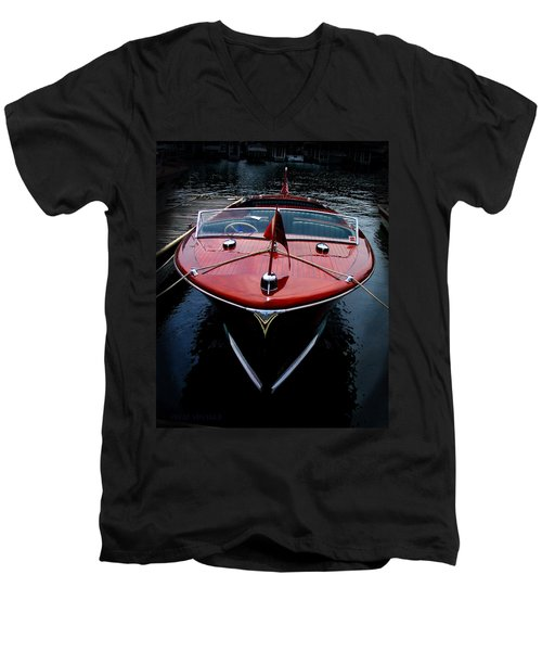 Handsome Wooden Boat Men's V-Neck T-Shirt