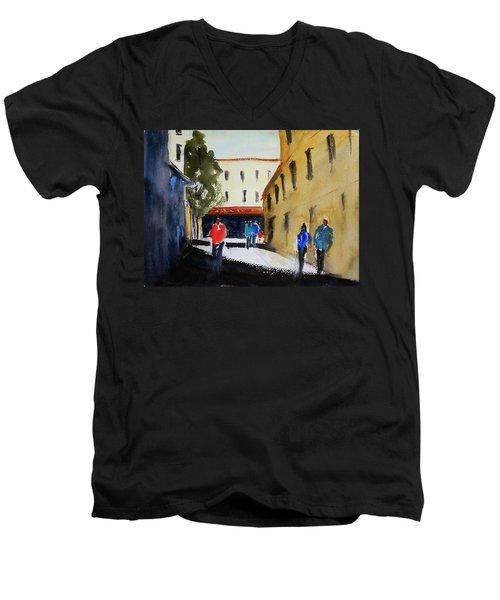 Hang Ah Alley2 Men's V-Neck T-Shirt by Tom Simmons
