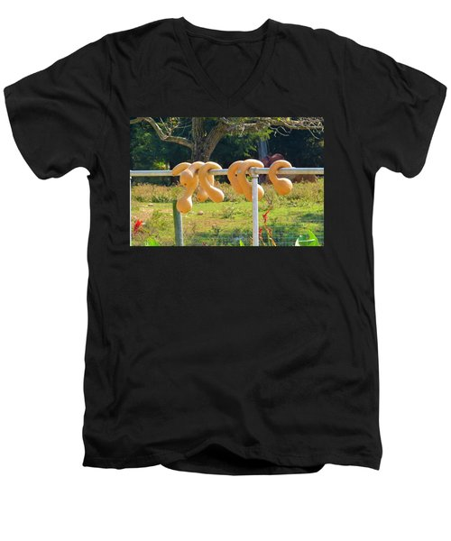 Men's V-Neck T-Shirt featuring the photograph Hang In There by Jeanette Oberholtzer