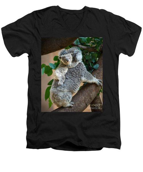 Hanging On Men's V-Neck T-Shirt by Jamie Pham