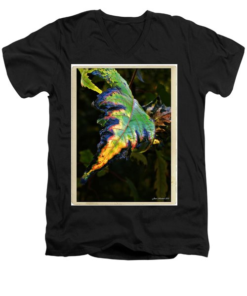 Men's V-Neck T-Shirt featuring the photograph Hanging Out by Joan  Minchak