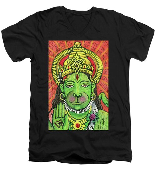 Hanuman Portrait  Men's V-Neck T-Shirt