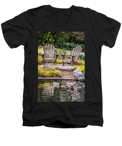 Men's V-Neck T-Shirt featuring the photograph Happiness Goes On by Wade Brooks