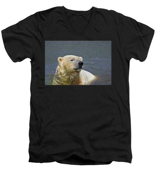 Happy Bear Men's V-Neck T-Shirt