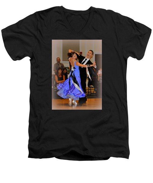 Happy Dancing Men's V-Neck T-Shirt by Lori Seaman