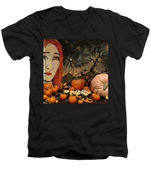 Happy Halloween Men's V-Neck T-Shirt by Jeff Burgess