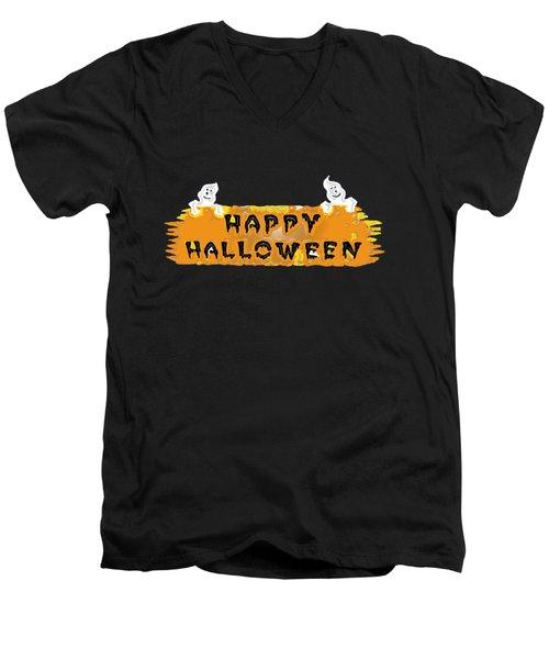 Happy Halloween - T-shirt Men's V-Neck T-Shirt by Robert J Sadler