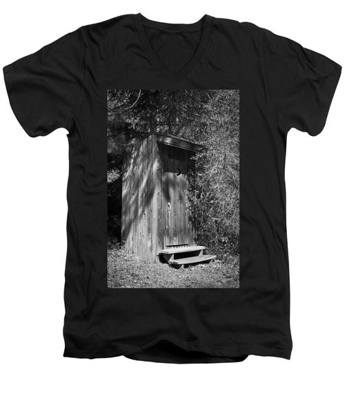 Happy Hollow Outhouse Men's V-Neck T-Shirt