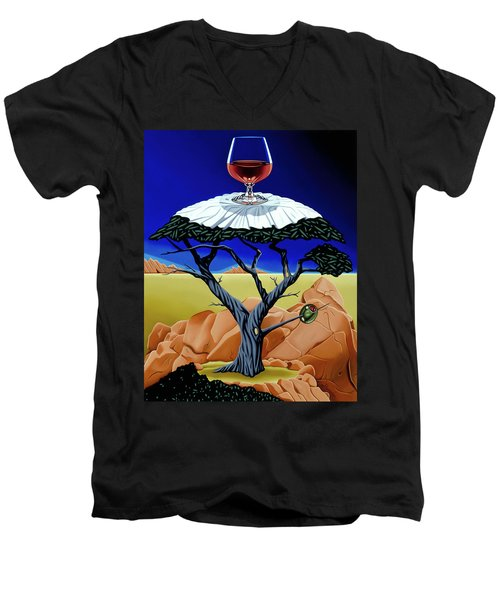 Happy Hour At The Midreal Cypress Men's V-Neck T-Shirt