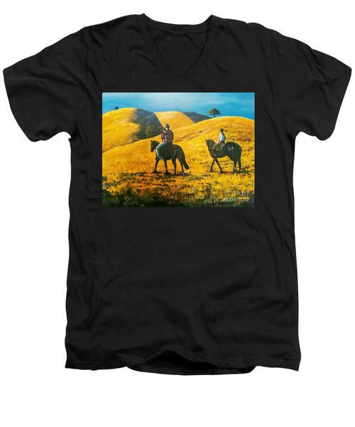 Happy Memories Men's V-Neck T-Shirt