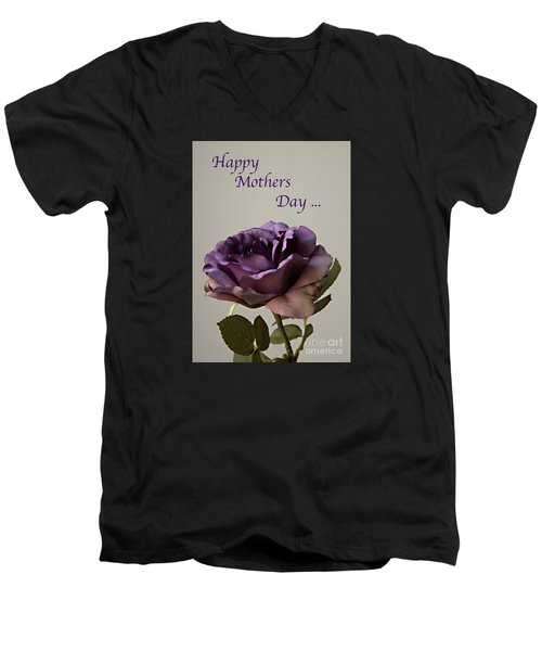 Happy Mothers Day No. 2 Men's V-Neck T-Shirt by Sherry Hallemeier