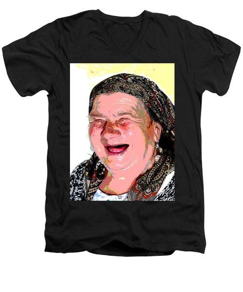 Babcia Men's V-Neck T-Shirt