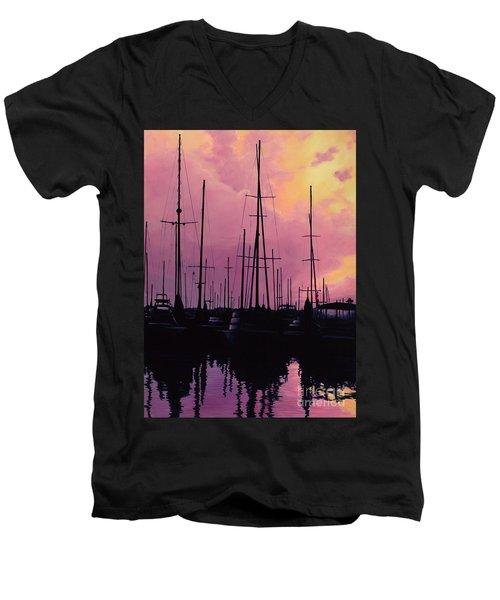 Harbor Glow Men's V-Neck T-Shirt