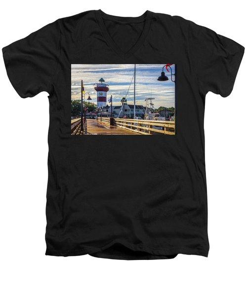 Harbour Town Lighthouse Men's V-Neck T-Shirt
