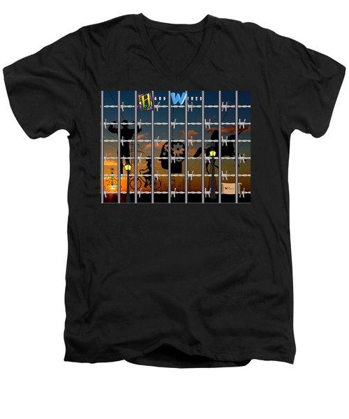 Hard-wired Men's V-Neck T-Shirt
