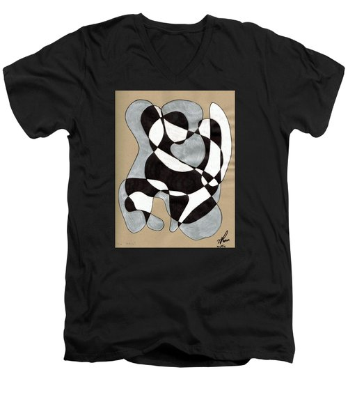 Harlequin Abtracted Men's V-Neck T-Shirt