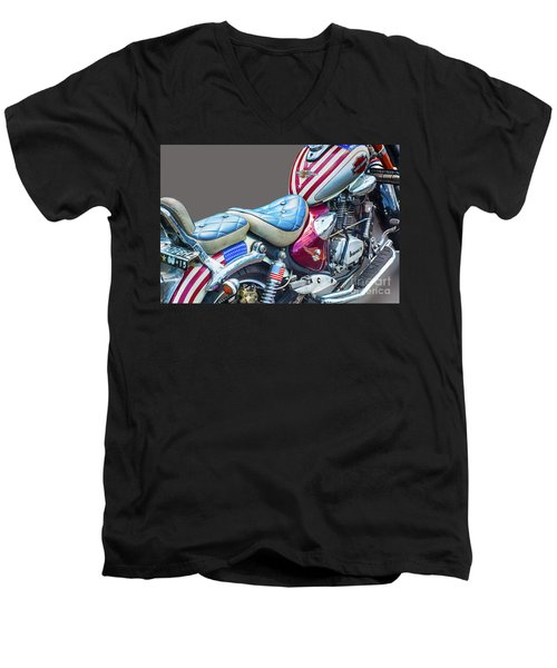 Men's V-Neck T-Shirt featuring the photograph Harley by Charuhas Images