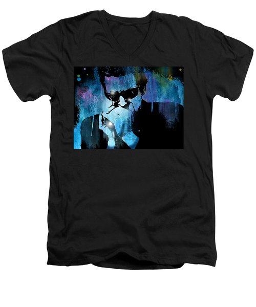 Harmonica Blues Men's V-Neck T-Shirt