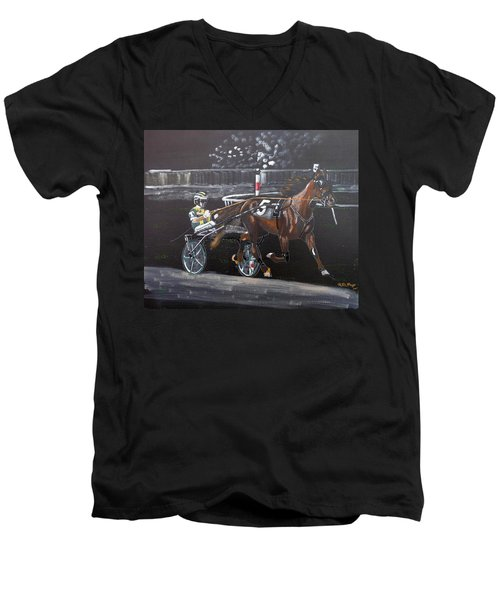 Harness Racing Men's V-Neck T-Shirt