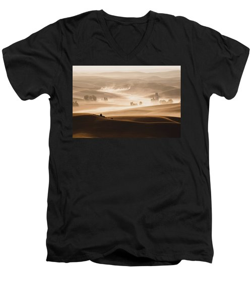 Harvest Dust Men's V-Neck T-Shirt by Chris McKenna
