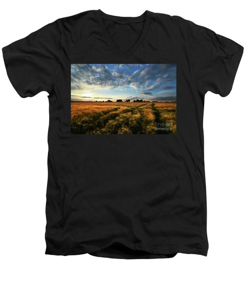 Harvest Men's V-Neck T-Shirt by Franziskus Pfleghart
