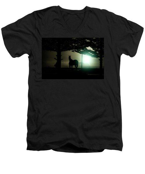 Hat-trick Men's V-Neck T-Shirt by Douglas Barnard