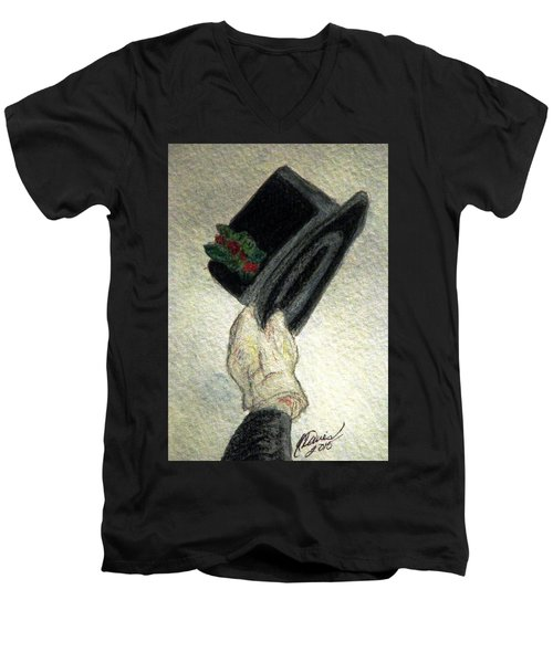 Hats Off To The Holidays Men's V-Neck T-Shirt