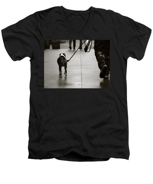 Hauling Ass Men's V-Neck T-Shirt by Empty Wall