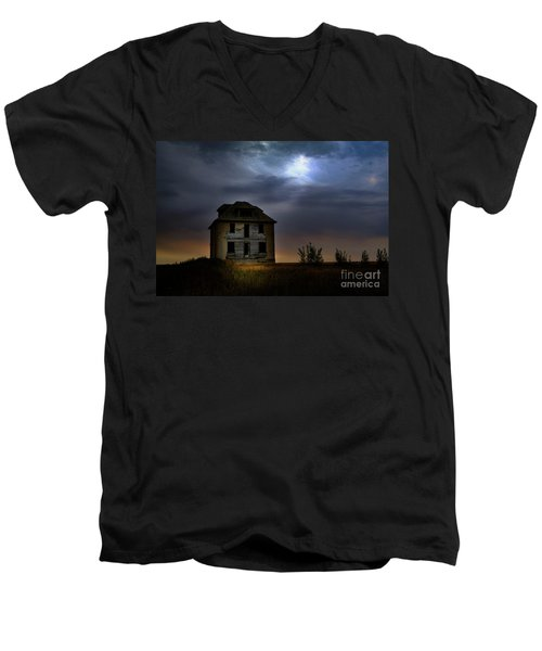 Haunted House Men's V-Neck T-Shirt