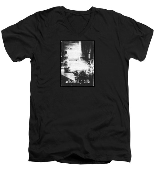 Men's V-Neck T-Shirt featuring the photograph Haunted Room I by Mimulux patricia no No