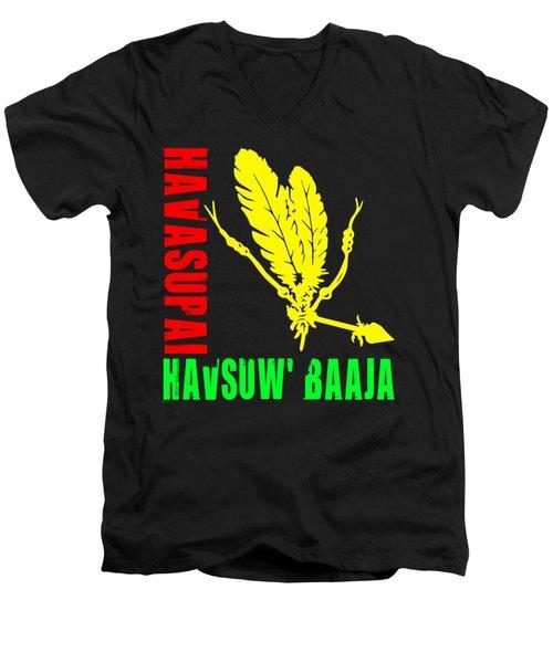 Havasupai Men's V-Neck T-Shirt by Otis Porritt