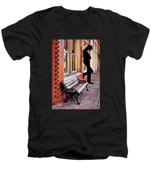 Have A Seat Men's V-Neck T-Shirt by David and Carol Kelly