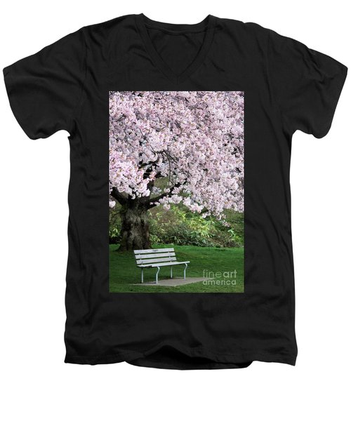 Men's V-Neck T-Shirt featuring the photograph Have A Seat by Victor K