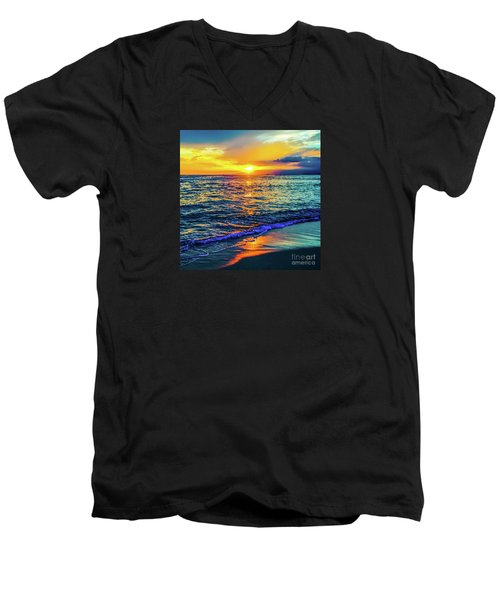 Hawaii Beach Sunset 149 Men's V-Neck T-Shirt