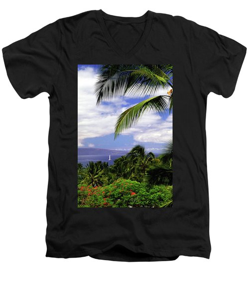 Hawaiian Fantasy Men's V-Neck T-Shirt