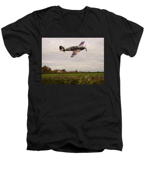 Hawker Hurricane -1 Men's V-Neck T-Shirt by Paul Gulliver