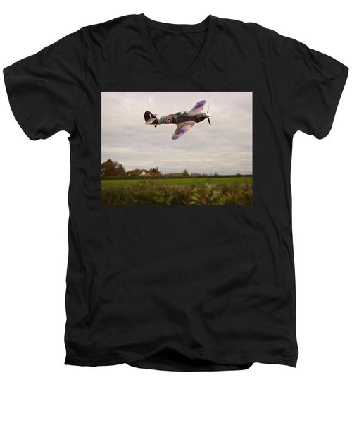 Hawker Hurricane -1 Men's V-Neck T-Shirt
