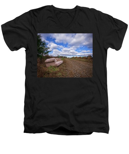 Hay Sofa Sky Men's V-Neck T-Shirt